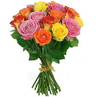 Букет из 15 роз «Солнечный»